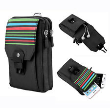 Black Outdoor Hiking Sport Pouch Phone Bag Case for iPhone 7 Plus / 8 Plus