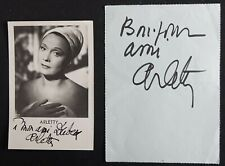 ARLETTY autographe & Photo dédicacée