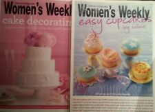 WOMENS WEEKLY CAKE DECORATING AND EASY CUPCAKES BY COLOUR 2 BOOKS