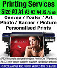Photo Poster Banner Printing Service on Canvas Gloss Matt Satin A4 A3 A2 A1 A0