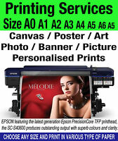 Photo Poster Banner Printing Service on Canvas Gloss Matt Satin A4 A3 A2 A1 A0