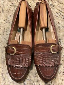 COLE HAAN CROCODILE KILTIE LOAFERS, Men's Size 11M, Made in Italy, Excellent