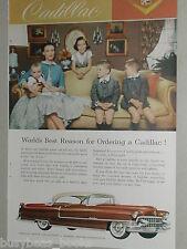 1955 CADILLAC Coupe advertisement, Coupe De Ville? family photo