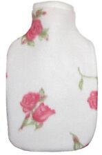 Rosebuds Print Fleece Covered Hot Water Bottle- Bottle Made in Germany
