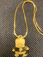 Gold Sanrio Hello Kitty Pekkle Anime Necklace Girls  90's