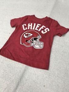 🌴🏈 Kansas City Chiefs NFL Football Red Shirt Toddler Boys 5t Toddler 🌴