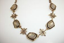 LUCKY BRAND Gold Tone Royal Jewels Floral Stones Collar Necklace JLRU9040 NWT