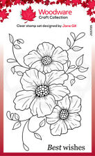 Woodware Petal Trio Clear Stamp Set by Jane Gill JGS725