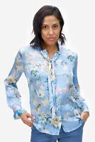 SAND Copenhagen - Bluse Damen All-Over-Blumenprint elegant blau NEU: 249 €