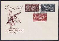 DDR FDC 561 - 563 mit SST Berlin Naturschutz 12.04.1957, first day cover