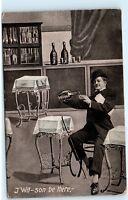 J Wilson Alcohol Liquor Long Island LI New York NY Vintage Antique Postcard D02