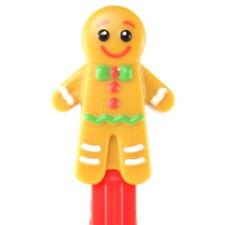 PEZ 2019 Christmas Gingerbread Man Dispenser BRAND NEW - Loose - Mint