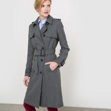 NEW La Redoute Atelier Women's Wool Blend Trench Coat Grey Marl UK 22 RRP£165.00