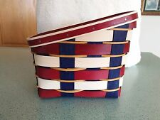 Longaberger 2017 Americana Tall Napkin Basket & protector set NEW Ready to ship!