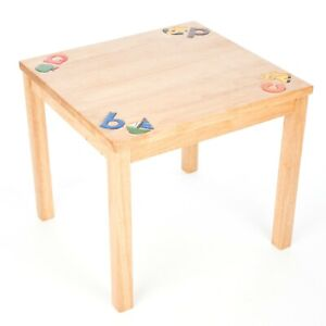 Solid Handmade Fair Trade Rubberwood Wooden Wood Childs ABC Table - FU-706-ABC