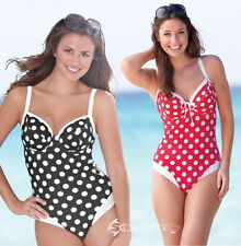 Bravissimo Polka Dot Swimsuit Sizes 30 to 38, Cups DD to K Costume Swimming