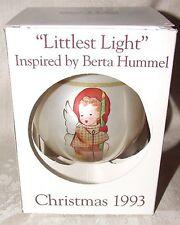 1993 Schmid Berta Hummel 1st LITTLEST LIGHT Christmas Xmas Glass Ornament