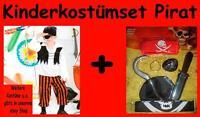 Kinder Kostüm Pirat Set Seeräuber Halloween Grusel Horror Fasching Karneval L