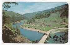 Lochsa Motel Resort Lowell Idaho 1970 postcard