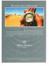 PUBLICITE  ADVERTISING   1993    MICHEL HERBELIN  collection SAFARI montres