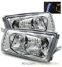 For 81-91 Mercedes Benz W126 300SDL/420SEL/500SEL LED Crystal Headlights (5 Pin)