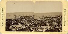 PORTUGAL Lisbonne Côté de Cajillas Stéréo Albumine Vintage ca 1870
