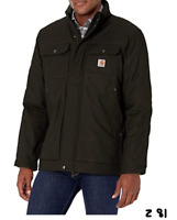 Carhartt mens Full Swing Relaxed Fit Quick Duck Insulated Traditional Coat Blk M
