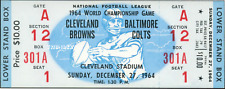 1964 NFL CHAMPIONSHIP VINTAGE UNUSED FULL TICKET CLEVELAND BALTIMORE laminated
