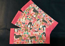 Adult Sable Tri Collie Sheltie Rose Garden Pink Trim Face Mask 100% to Rescue