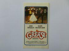 VECCHIO ADESIVO /Old Sticker Gamberini Film GREASE JOHN TRAVOLTA (cm 7x12)