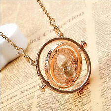 Harry Potter Hermione Granger Rotating Time Turner Necklace Hourglass New