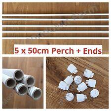 5 x 50cm lunghezze di plastica pesce persico & finisce per Fringuelli, canarino, Budgie, Voliera Volatili