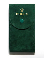 Travel Storage Protection Service Pouch Genuine Factory Gold Rolex Green Velvet