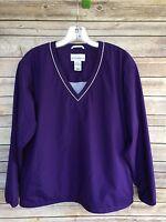 CUTTER & BUCK Active Outer Wear Purple Polyester Golf Pullover Jacket Sz Sm EUC