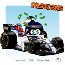 Print on Canvas Williams FW41 2018 #18 Lance Stroll (CAN) by BM