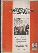 Furniture Manufacturer & Artisan Magazine May 1923 Exhibit Furniture