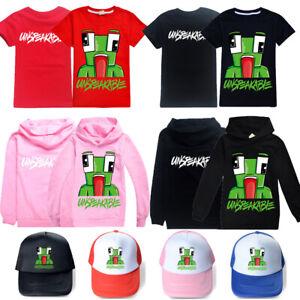 Unspeakable Inspired Kids Hoodie Hooded Sweatshirt Youtuber Merch T-shirt Tee