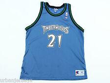 Vintage Minnesota Timberwolves Kevin Garnett #21 Jersey by Champion -Size 48(XL)