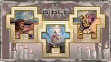 Guinea - The Bible on Stamps - 3 Stamp Sheet - 7B-1531