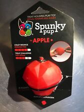Spunky Pup Fillable Treat Holding Apple Toy Bouncy Non Toxic Dishwasher Safe