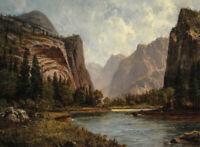 Yosemite Valley Albert Bierstadt Landscape with Mountains Art Print CANVAS Small