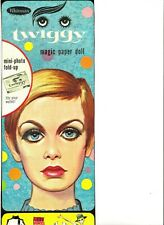 Vintage 1967 Twiggy Paper Dolls~#1 Reproduction Of Very Rare Boxed Set~Scarce!