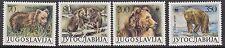 Mammals: 1988 -Yugoslavia-Wwf -Brown Bear set Sg2430-3 Mnh