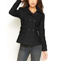 Celebrity Pink Women's Double Breasted Light Weight Pea-Coat Size S L XL