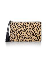 Nikki Williams Harvie Calfhair Clutch Leopard Print rrp £109 DH171 PP 06