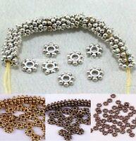 1000pcs tibetischen Antik Silber/Golden/Bronze Daisy Spacer Perlen 4mm 6mm