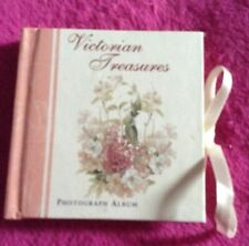 Tiny 'Victorian Treasures' Photo Album, NEW, Beautiful Pages,3.5 inches, 8 pages
