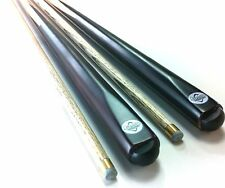 WOODEN POOL SNOOKER BILLIARD CUE SET 2x Cues ASH PRO with 10mm Glue Tips   .