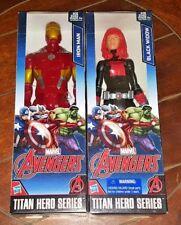 Brand New Hasbro Iron Man + Black Widow Titan Hero Series Action Figures!