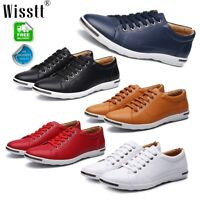 Men's Casual Leather Sneakers Work Shoes Leisure Business Formal Flat Loafers AU